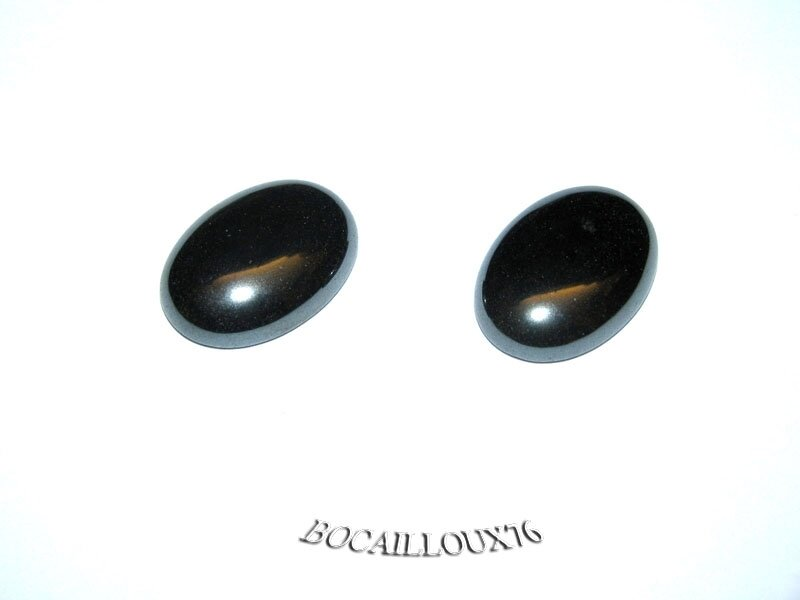 CABOCHON 13x18 HEMATITE 10 - Lot de 2 - Pour CREATION