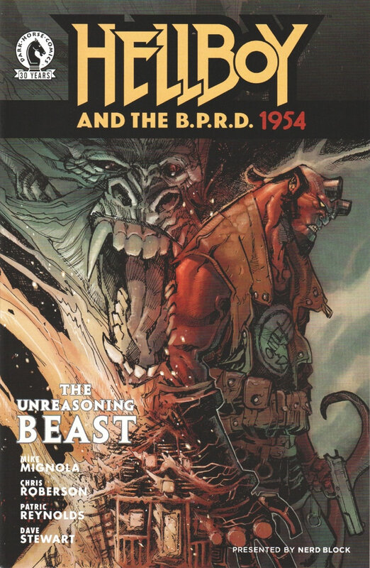 dark horse hellboy and the BPRD 1954 the unreasoning beast