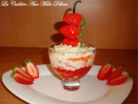 Cuillère aux mille délices - Risotto aux fraises Gariguettes