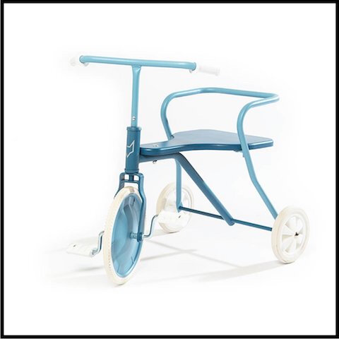 smallable tricycle metal 5 bleu