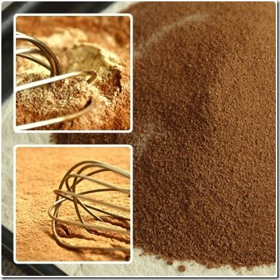 mélange farine cacao