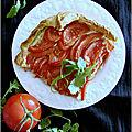 Quiche ricotta-tomates & huile de pistache