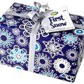Cadeau laisse tomber la neige
