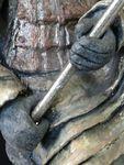 Xian 2, samouraï, sculpture,céramique, modelage,argile,terre,soldat,chinois,japonais,guerrier,émaux,raku (9)