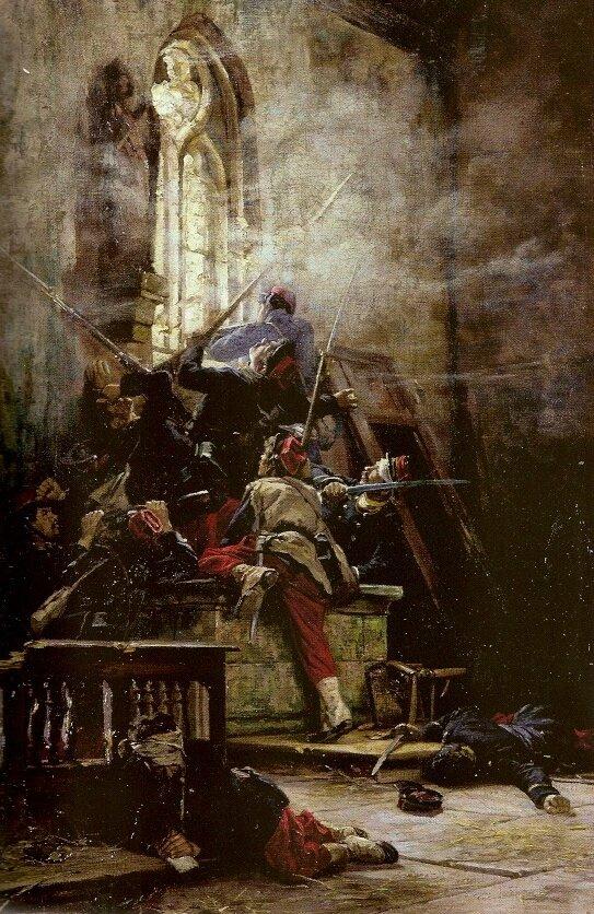 De Neuville, scène de combat dans une église (1881)