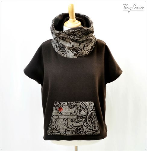 Sweat oversize, poncho pull en polaire, et gros col snood