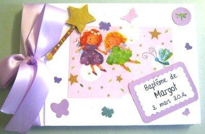 Livre d'or thème fée pour le baptême de Margot