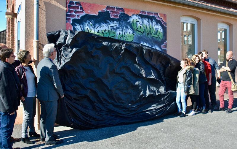 MISSION LOCALE 2018 GRAFF KÉVIN BRÉMIEUX dévoilage graff