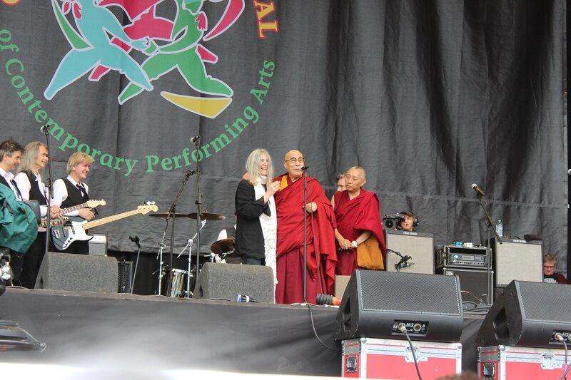 Glastonbury festival J+4 dimanche 28 juin 2015 Pyramid Stage Patti Smith Dalai Lama