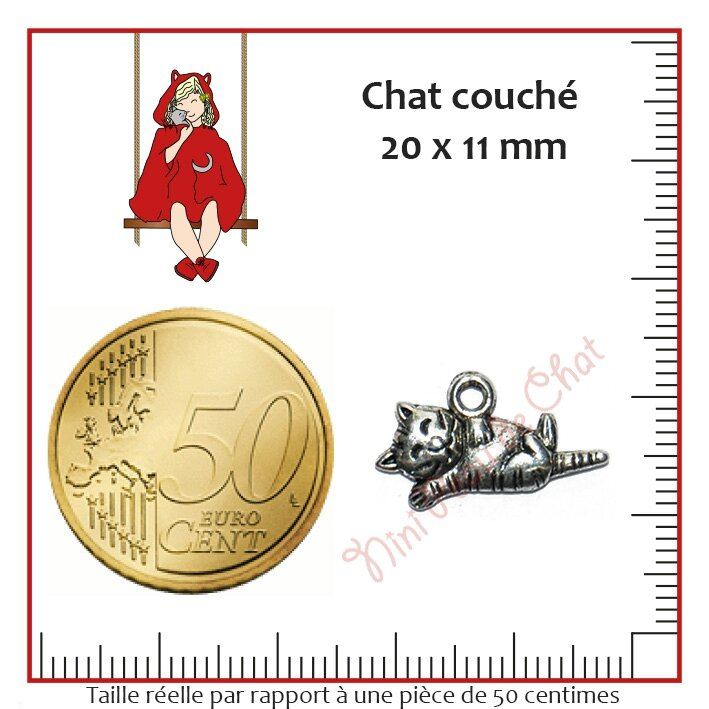 Chat 20 x 11 mm
