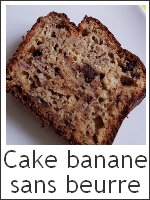 Cake choco - banane sans beurre