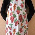 tablier Fruits Rouges en PVC