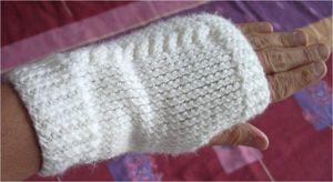 mitaine tricot torsade
