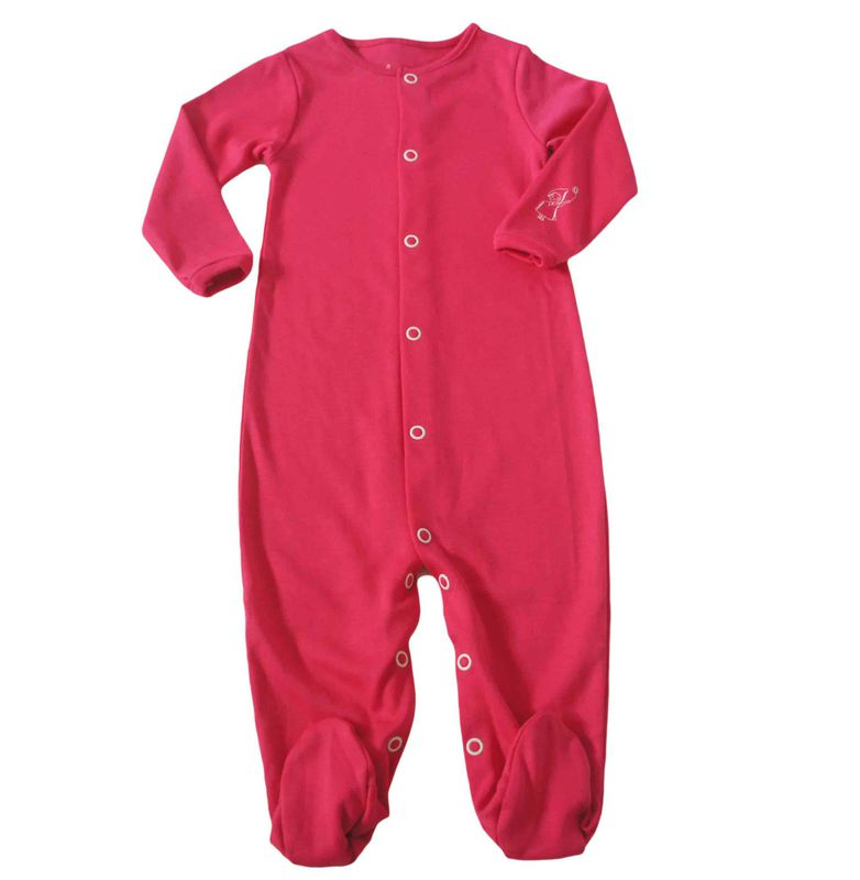 pyjama con pieds framboise baja