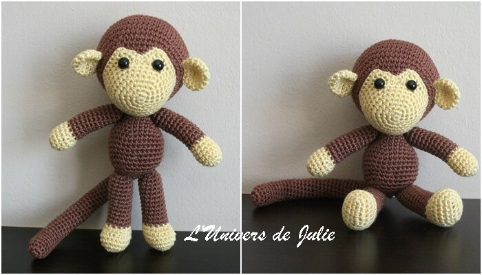 Johnny the monkey singe Pepika L'univers de Julie