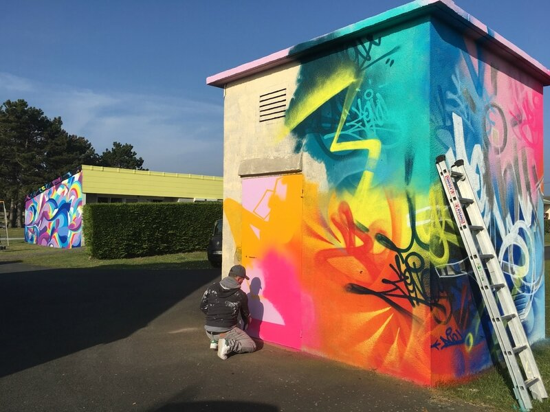 Azureva-Azurev'art-street art-art urbain-Hauteville-village vacances-Normandie-Zenoy