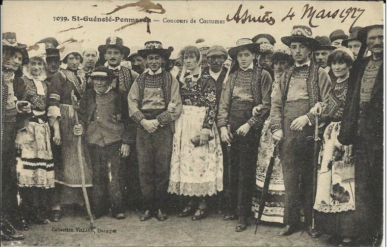 CPA 1927 concours de costumes