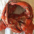 Long foulard ou paréo - voile de coton indien -