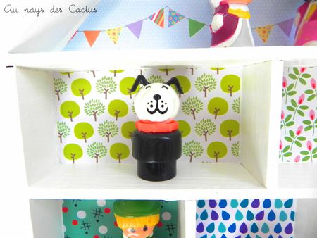 Etagère-maison décorée papiers Fifi Mandirac Au pays des Cactus 5