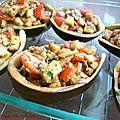 Barquettes d'aubergines