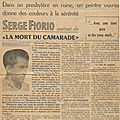 Un article dans les allobroges du samedi 17 février 1961.