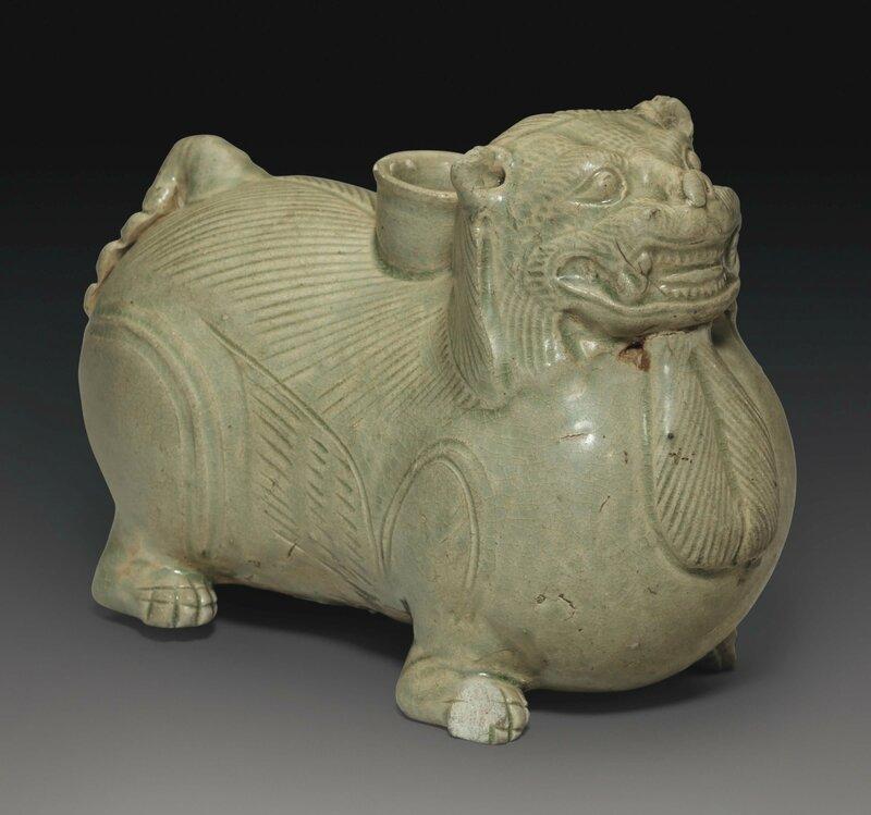 A Yue animal-form vessel, Western Jin dynasty, 3rd-4th century