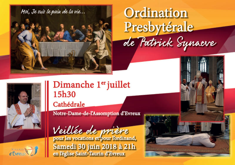 Affiche Ordination Patrick Synaeve