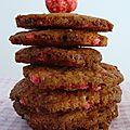 cookies aux pralines et aux noix.