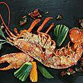 Le menu « royal homard » de xavier charaux