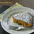 Gâteau vénitien aux carottes, sans gluten et sans lactose