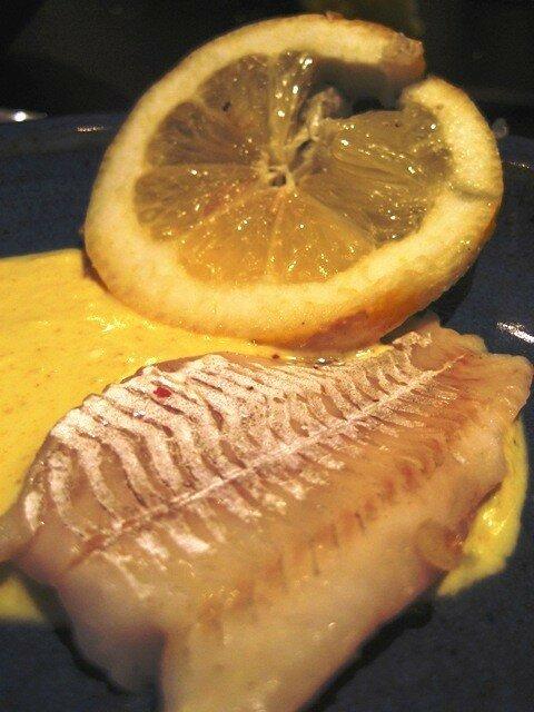 filet de sandre sauce coco-citron