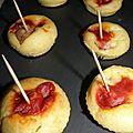 Muf-cakes apéros chipo/tomate