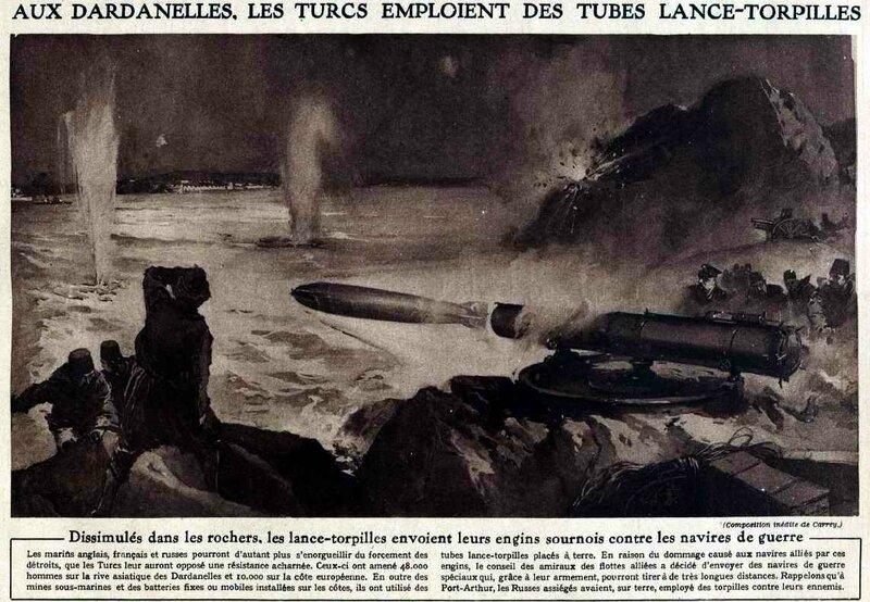 Lance tropilles aux Dardanelles