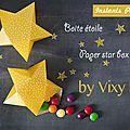 Boite étoile en papier - paper star box