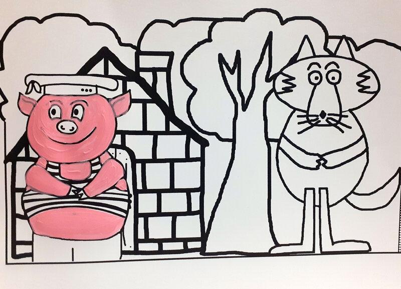 372-COURONNES-Couronne Les trois petits cochons (9)