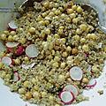 Salade de quinoa aux pois chiche