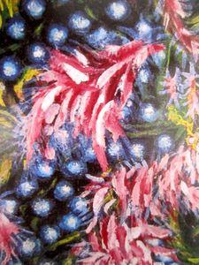Grappes et feuilles roses 1925-1930 détail