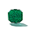 A carved emerald