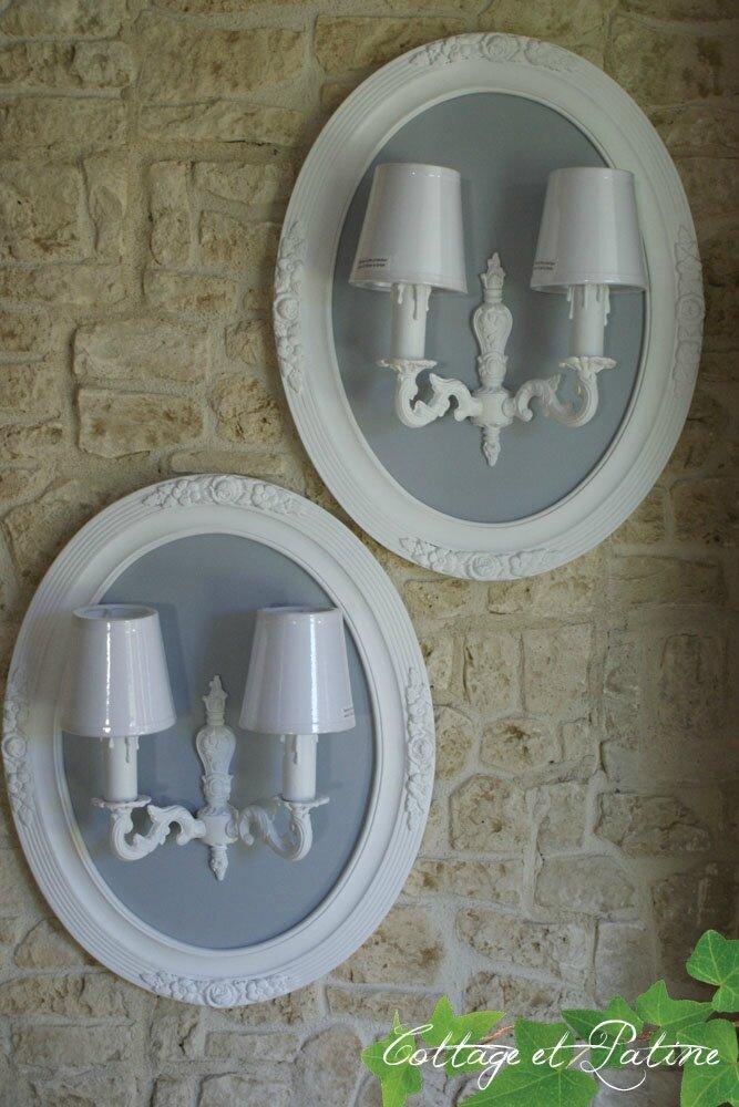 Cottage et Patine Créa luminaire ovale 06