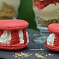 Macarons chantilly et fraises
