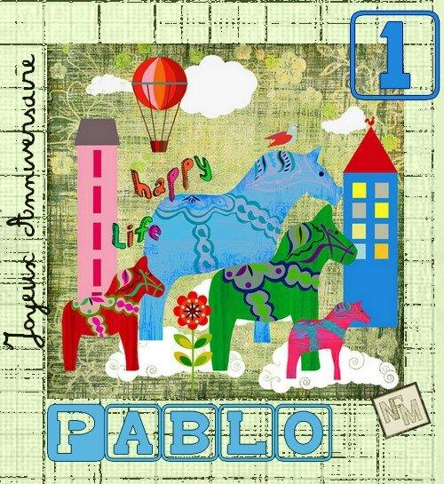 Carte Anniv Pablo- 1 an