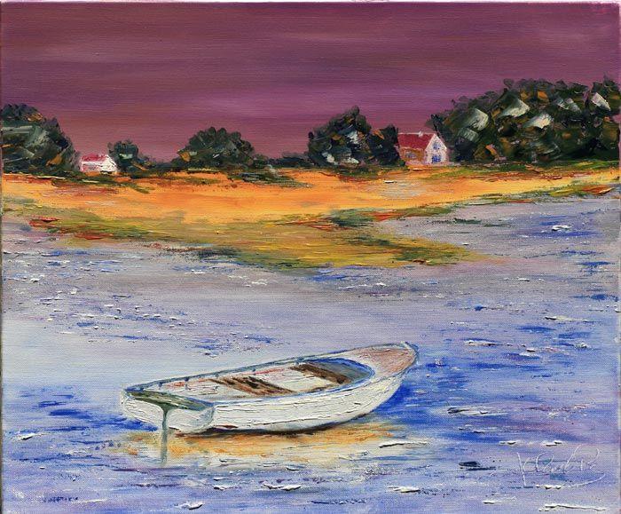 Jeune Bord de mer en Bretagne - Mes peintures BR-24