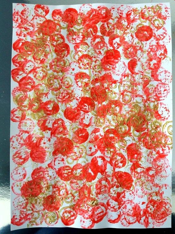 282_Noël et Nouvel an_Carte ou calendrier rouge et or (13)