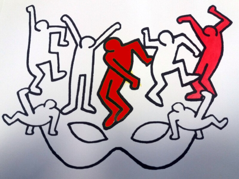 350-MASQUES-Masque Keith Haring (10B)