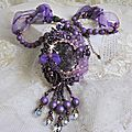 Collier pendentif Chinese Purple Stone 7-1