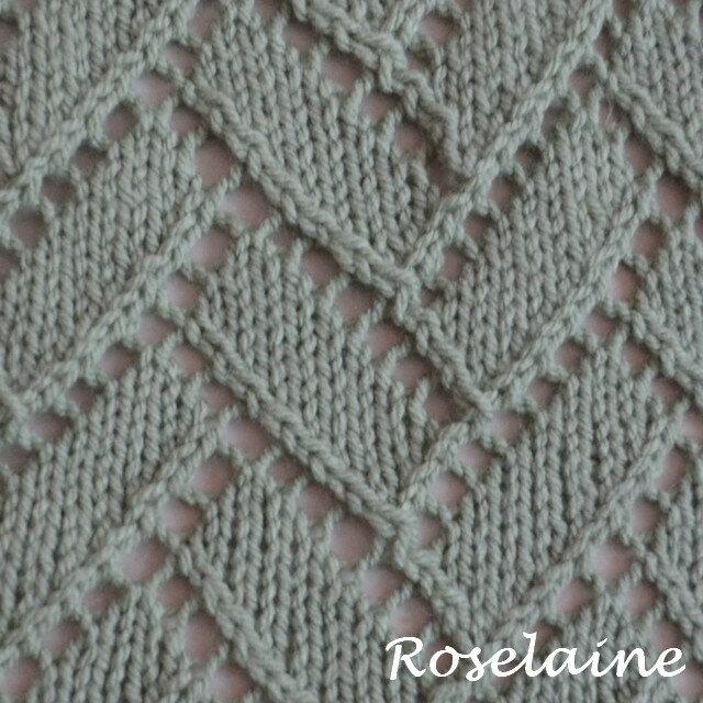 Roselaine asymmetrical lace knit shawl by Yarnspirations 3