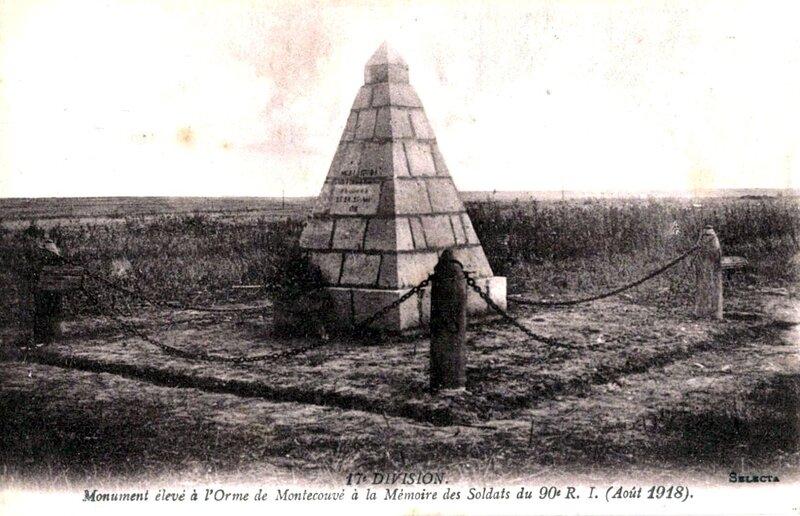 1918-09-02 - monument élevé par les pionneirs du 90e R