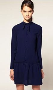 Minirobe_boutonn_e__encolure_montante_et_lavalli_re_by_ASOS