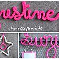 C'est la rentrée !!! tentez de gagner un prénom ou un mot en tricotin.