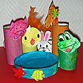 Cadeau pour la fête des pères: porte-crayons animaux avec rouleaux de papier toilettes